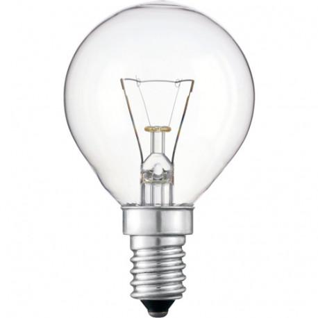 Lámpara esférica incandescente clara E14 40W 360LM. Mod. 35126