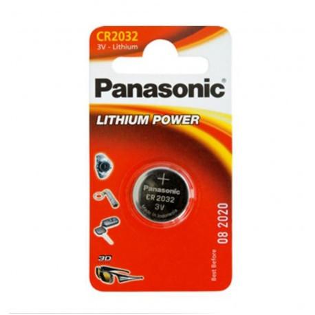 Pila litio 3V de botón Panasonic blister. Mod. CR2032B