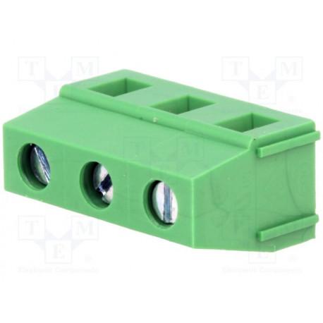 Conector soldar 3 vías 7,5mm para PCB 2,5mm2. Mod. DG128-7.5-03P14