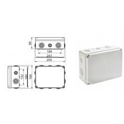 Caja estanca IDE conos 245x185x99. Mod. EV231