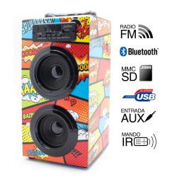 Torre música reproductor USB Bluethooth comic Joybox. Mod. 92698