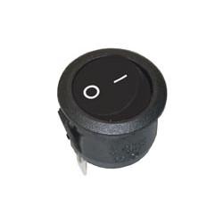Interruptor unipolar redondo 6A./250V. Negro. Mod. 0646