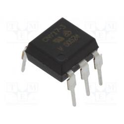 Optoacoplador THT 1 canal transitorizado Uaisl 5,3kV. Mod. CNY17-3-VIS