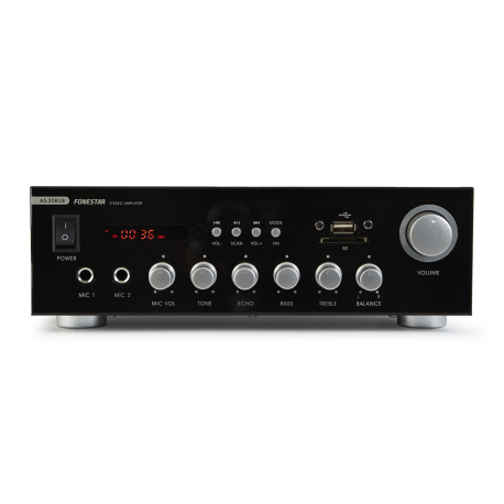 Amplificador Estéreo BT/USB/SD/FM 2X15W Fonestar. Mod. AS-30RUB