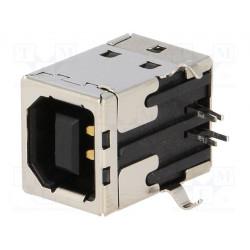 Conector hembra USB B PCB THT 4 PIN angular 90°. Mod. 2411-03