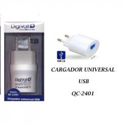 Cargador Micro Usb 1000 mA Digivolt. Mod. QC-2401
