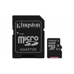 Tarjeta microSD 64GB Kingston. Mod. SDCS/64GB