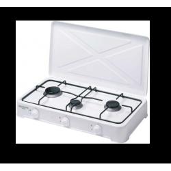 Cocina de Gas 3 fuegos con tapa Bastilipo. Mod. CG-300