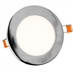 Downlight LED empotrar 20W Aluminio cromo 6000K. Mod. 6026.2