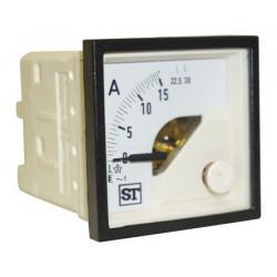 Amperímetro panel 48x48 0-15A AC Sifan Tisley. Mod. EQ44-I1422N1CAW0ST