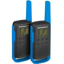 Pareja de walkie talkies 8km Motorola azul. Mod. TLKR T62 Azul