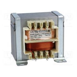 Transformador 230V AC a 12V AC 40VA 3,3A. Mod. TS40/024