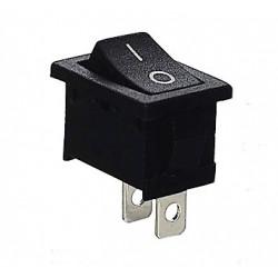 Interruptor unipolar 6A./250V. Negro. Mod. 0990