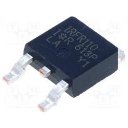 Transistor N-MOSFET 100V 2,7A 25W DPAK. Mod. IRFR110