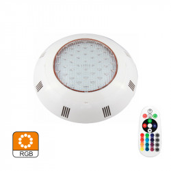 Foco LED Piscinas Superficie IP68 RGB 24W Incluye Mando. Mod. 1699