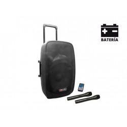 Altavoz trolley autoamplificado MP3 USB/SD/FM/Bluetooth. Batería. Mod. MAM 152 BT