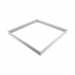 Marco de superficie para panel 59.5×59.5 cm blanco. Mod. 606001
