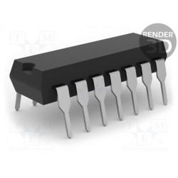 Circuito integrado digital HEX inversor 6 canales CMOS THT DIP14. Mod. CD4069UBE