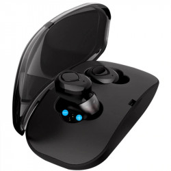 Auriculares bluetooth 4.2 negro in ear. Mod. X18 TWS