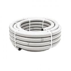 Tubo desagüe PVC blanco flexible M20 25 metros. Mod. HIDROFLEX