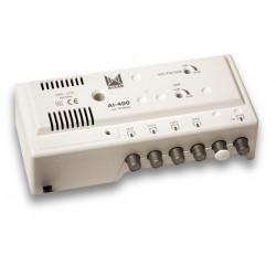 AMPLIFICADOR INTERIOR 4 SALIDAS 28 dBi ALCAD. Mod. AI-400