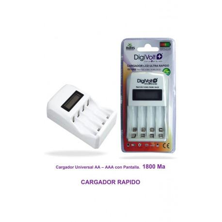 Cargador baterías rápido AA/AAA Digivolt. Mod. QC-2406