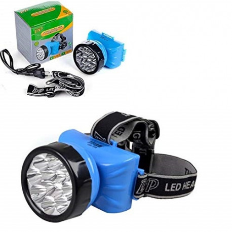 Linterna de cabeza LED Recargable 12 leds DP. Mod. LED-722B