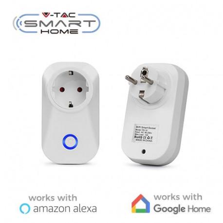 Enchufe Smart Home WIFI compatible con Amazon Alexa y Google Home V-TAC. Mod. 8415