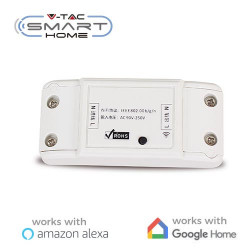 Interruptor Smart Home WIFI compatible con Amazon Alexa y Google Home V-TAC. Mod. 8422