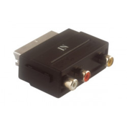 Adaptador euroconector a 3 RCA entrada de audio video. Mod. 61.526/IN