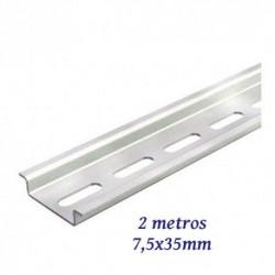 Carril DIN Omega perforado 7,5x35MM 2 METROS. Mod. PERRAN
