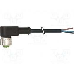 Cable de conexión M12 5m 4 PIN 90º 250VCA 4A. Mod. 7000-12341-6140500
