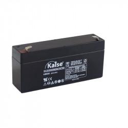 Batería plomo AGM 6V 3.2Ah F1 Kaise. Mod. KB632