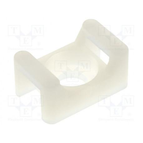Portabridas poliamida natural Ancho brida: 5,6mm Alt: 7,2mm. Mod. FIX-TM-2S8