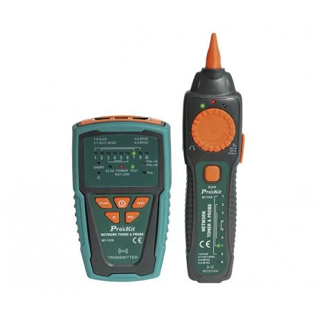 Tester de redes y localizador de cables por tono. Mod. MT-7028