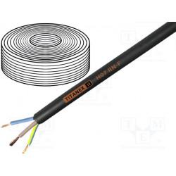 Cable H07RN-F Cu 3G2,5mm2 goma negro 450/750V Clase:5. Mod. TITANEX3X2.5