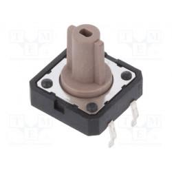 Microconmutador 2 Posiciones 0,05A/12VCC THT. Mod. PTS125SM12-2