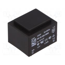 Transformador cerrado 1,9VA 230VCA 12V 158mA PCB. Mod. BVEI3032032