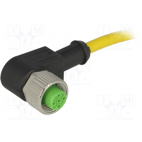 Cable de conexión M12 1.5m 4 PIN 90º 250VCA 4A. Mod. 7000-12341-0140150