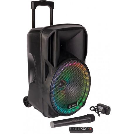 """Altavoz Amplificado 15"""" Portátil 800W. Mod. PARTY-15RGB"""