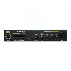 Amplificador/mezclador 2 x 300W @ 4 Ohm. 1 x 300W L100V. Mod. AML 300 USB BT