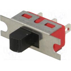 Interruptor deslizante 2 posiciones SPDT 2A/250VCA 5A/28VCC. Mod. 5MS1S102BM1QE