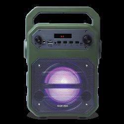 Altavoz Karaoke 15W verde Daewoo. Mod. DSK-345