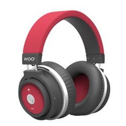 Auriculares diadema bluetooth rojo Woo Swiss & go. Mod. HP001BTR