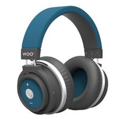 Auriculares diadema bluetooth azul Woo Swiss & go. Mod. HP001BTBL
