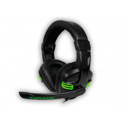 Auriculares gaming micrófono negro verde BG Typhoon. Mod. BG-AUD08
