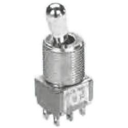 Interruptor palanca Bipolar (DPDT) (On)-Off-(On). Mod. A205T1ZQ04