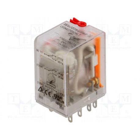 Relé electromagnético DPDT 24VAC 10A/250VAC 10A. Mod. DRM270524LT