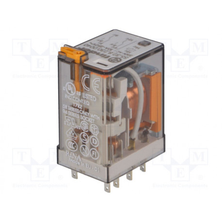 Relé electromagnético DPDT 230VCA 10A/250VCA. Mod. 55.32.8.230.004
