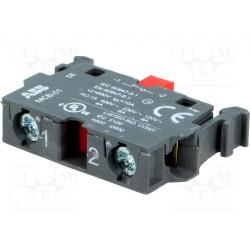 Bloque contacto NC 22m placa frontal ABB. Mod. MCB-01